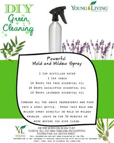 Powerful Mold & Mildew Spray Recipe.    To order essential oils, visit my website www.youngliving.org/culpepperck