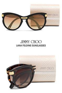 4df5d8e141a Jimmy Choo Eyewear Collection Presents Lana Folding Sunglasses Choo  Connection website