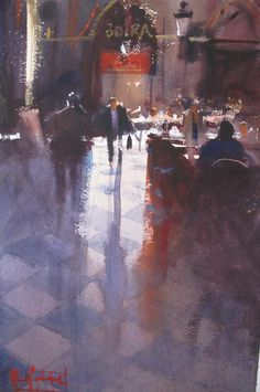 Alvaro Castagnet 1954 | Uruguay | Expressive Watercolor painter |