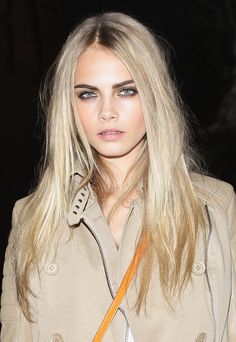 Model Cara Delevigne attends the Burberry Prorsum Fashion Show as part of  Milan Fashion Week Menswear A/W 2011 on January 15, 2011 in Milan, Italy.