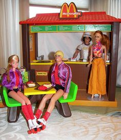Barbie McDonalds Play Set. I had this growing up, in addition to my two barbie houses, corvettes, porches, tons of barbie, skipper, ken dolls, babies, and clothes, etc. I had everything Barbie!