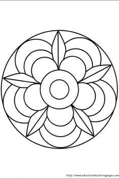 Simple Mandala Flower Coloring Pages. 30 Simple Mandala Flower Coloring Pages. Easy Flower Mandala Coloring Pages at Getdrawings Mandala Tigre, Mandala Art, Mandalas Painting, Mandalas Drawing, Mandala Coloring Pages, Mandala Pattern, Mosaic Patterns, Coloring Book Pages, Dot Painting