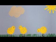 Bricolage de Pâques pour la maternelle : comment créer des jolis poussins avec l'impression de pommes de terre.