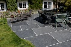 Salcombe Sandstone In A Seasoned Finish Patio Tiles With