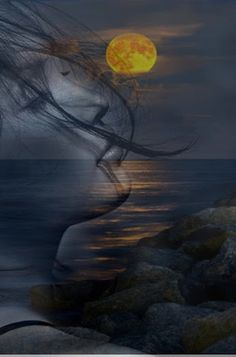 in my dreams Beautiful Moon, Beautiful Images, Creative Photography, Art Photography, Double Exposition, Double Exposure Photography, Photo D Art, Romantic Pictures, Moon Art