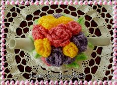 Spring Roses Tea Cosy ~ free pattern ᛡ