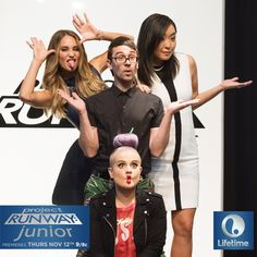 The judges of Project Runway Junior definitely know how to have a good time! Follow Lifetime TV on Pinterest for more behind the scenes images.