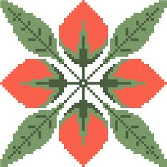 Modern cross stitch floral tile. Traditional cross stitch design by crossstitchtheline Simplicity in itself, this beautiful cross stitch piece will suit any modern living setting.