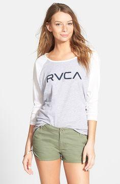 Junior Women's RVCA 'Downtowner' Twill Shorts
