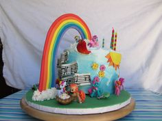 A very cute My Little Pony cake (with music!) on it! | by Katie Made This: Cakes