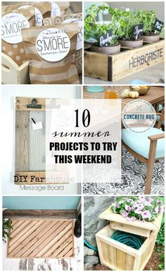 Can't miss DIY SUMMER projects to try this weekend! - www.littlehouseoffour.com