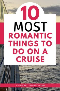 Cruising is one of the most romantic vacations couples can take together. Here are the top 10 things couples can enjoy together whie on a cruise vacation! Alaska Cruise Tips, Cruise Packing Tips, Cruise Travel, Cruise Vacation, Honeymoon Cruise, Disney Cruise, Vacation Spots, Cruise Ship Reviews, Best Cruise Ships