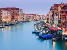 You'll be hard-pressed to find a city more romantic, beautiful, and lively at night than Venice. Take a walk along the Rialto Bridge to see what we mean12 Beautiful Photos Of Venice - Condé Nast Traveler