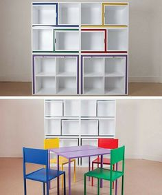 2. Chairs and Tables that Fit into a Shelf | Space Saving Ideas For Your Studio Apartment