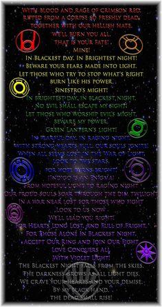 Lantern corp oaths