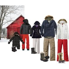 """""""Winter Family photoshoot outside in the Snow Red Barn"""" Photo Shoots, Photo Sessions, Family Photos, What To Wear, The Outsiders, Barn, Winter Jackets, Snow, Bedroom"""
