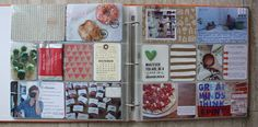 Love the craft paper journaling cards that was decorated with stamping and painting stripes.