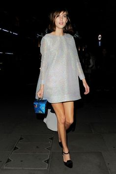 Alexa Chung attends the British Fashion Awards 2014 after party at Royal Cafe hotel.