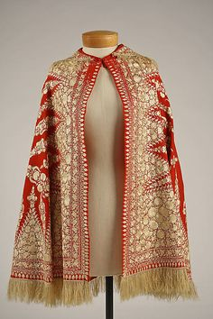 Cape (back view)  Date: 1850s Culture: probably European Medium: wool, silk Accession Number: C.I.59.49
