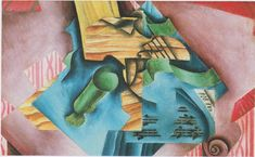 Violine and glass : Juan Gris : Synthetic Cubism : still life - Oil Painting Reproductions Amedeo Modigliani, Henri Matisse, Synthetic Cubism, Spanish Painters, Fine Art Paper, Les Oeuvres, Fine Art Prints, Poster Prints, Posters