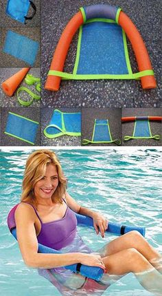 Summer is here and pool noodle is everywhere. But pool noodle has many uses not just in the swimming pool. First of all, you can do so many things with a pool noodle for home projects. For example, you can make some small exquisite pendants with the color Diy Projects To Try, Home Projects, Outdoor Projects, Piscina Diy, Ideias Diy, Cool Pools, Summer Fun, Summer Ideas, Summer Pool