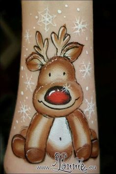 Reindeer Face Painting