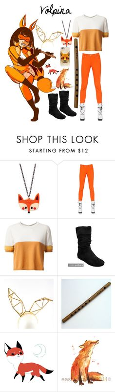 """""""Volpina"""" by natalie-schwarz ❤ liked on Polyvore featuring Kenzo, Fendi, Journee Collection, WXYZ by Laura Wass, Casetify, ladybug, Miraculous and volpina"""