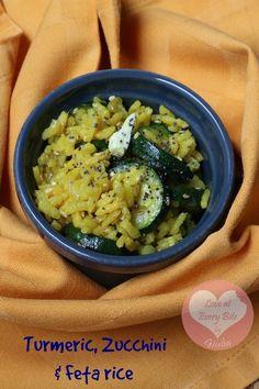 Riso alla curcuma, zucchine e feta - Turmeric rice with courgettes and feta « Loveateverybite Loveateverybite
