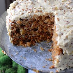 The Best Hummingbird Cake - this cake is super moist, not too sweet, lots of texture, I always add about 1 cup shredded carrots as well.