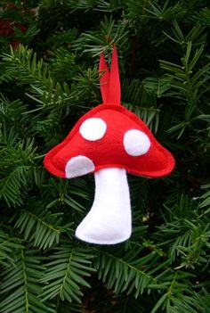 Stacey's Red & White Toadstool Ornament
