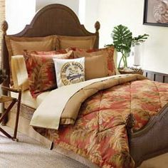 Tommy Bahama Home, Orange Cay Comforter Sets - Bedding Collections - Bed & Bath - Macy's Tommy Bahama, Coastal Bedding, Coastal Decor, Tropical Decor, Coastal Living, Tropical Bedding, Coastal Rugs, Chic Bedding, Tropical Design