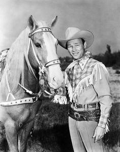 Roy Rogers, King of the Cowboys, seen here with Trigger.