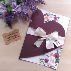Marriage Invitation Card, Wedding Invitation Cards, Wedding Cards, Purple Cards, Diy Cards, Diy And Crafts, Christmas Crafts, Wedding Planning, Greeting Cards
