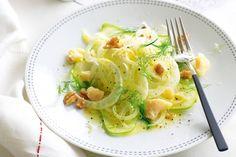 Fennel, pear & parmesan salad
