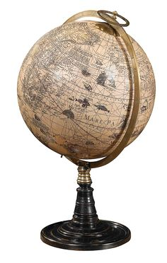 Old World Globe with Stand - Globes Authentic Models, Museum - Distinguished Imports