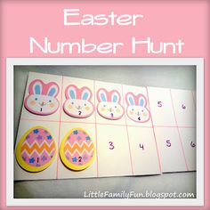 Easter Number Hunt!   Fun games to play with Easter sticky-notes. :)