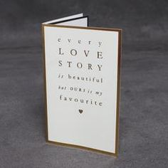 'My Favourite Love Story' Card