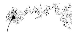 dandelion music note light up decor - Google Search