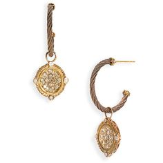 Charriol 'Celtique' Champagne Diamond & Bronze Drop Earrings Bronze Stainless/ Rose Gold One Size .. nordstrom