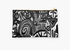 Black and white art symbols by ludodesign Studio Pouches