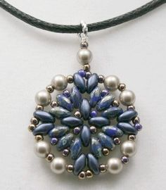 Superduos and Pearl Pendant Pattern - Could eliminate the pearls or substitute with Crystals !