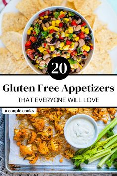 These gluten free appetizers are our top crowd-pleasing recipes that everyone will love…no matter how they eat! Try them all.   appetizers   buffalo cauliflower   nachos recipe   dip recipes   baked brie   gluten free recipes   football food   Gluten Free Appetizers, Finger Food Appetizers, Gluten Free Recipes, Dip Recipes, Appetizer Recipes, Dinner Recipes, Quick Recipes, Summer Recipes