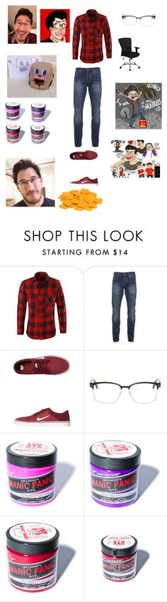 """""""Markiplier Inspired"""" by aliciakreb ❤ liked on Polyvore featuring Scotch & Soda, NIKE, Tom Ford, Manic Panic, Flash Furniture, men's fashion and menswear"""