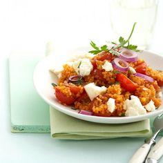 ESSEN & TRINKEN - Tomaten-Bulgur mit Feta Rezept