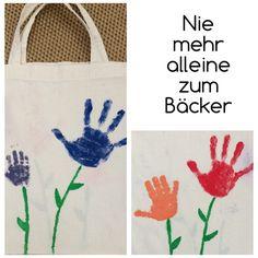Stoffbeutel zum Vatertag (Stoffmalfarbe) | made by Herzkeks