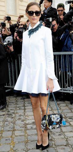 Olivia Palermo carries a lady-like Dior Lady Bag