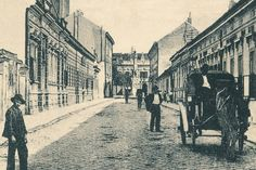 1900s The famous ALBA NAVIS (White ship, Бела лађа) inn (right).This was the place that gathered top Serbian cultural and political intelligence in the second half of 19th century.The building still exists in Njegoš street but it is abanoned, almost in ruins.