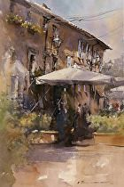 Orvietto Market by Vladislav Yeliseyev Watercolor ~ 21 x 14