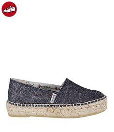 Angkorly Damen Schuhe Espadrilles Derby-Schuh - Low - Perforiert - Blumen - Glänzende Keilabsatz High Heel 4 cm - Weiß WD1732 T 39 X9lUJt