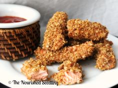 Brain Boosting Walnut Salmon Sticks | The Nourished Seedling  Great for kids & toddlers!